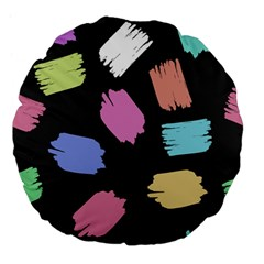 Many Colors Pattern Seamless Large 18  Premium Flano Round Cushions by Nexatart