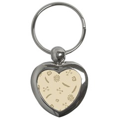 Pattern Culture Seamless American Key Chains (heart)  by Nexatart