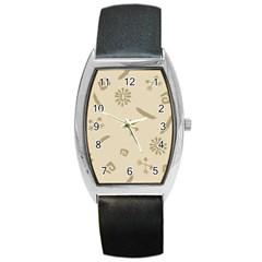 Pattern Culture Seamless American Barrel Style Metal Watch by Nexatart