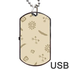 Pattern Culture Seamless American Dog Tag Usb Flash (one Side) by Nexatart