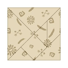 Pattern Culture Seamless American Acrylic Tangram Puzzle (6  X 6 ) by Nexatart