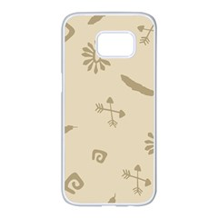 Pattern Culture Seamless American Samsung Galaxy S7 Edge White Seamless Case by Nexatart
