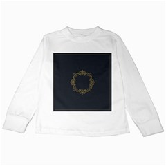 Monogram Vector Logo Round Kids Long Sleeve T Shirts