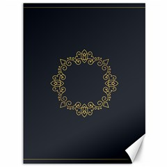 Monogram Vector Logo Round Canvas 36  X 48