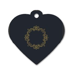 Monogram Vector Logo Round Dog Tag Heart (two Sides)