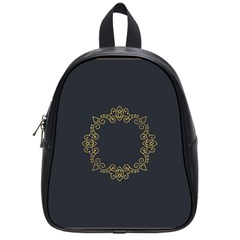 Monogram Vector Logo Round School Bags (small)  by Nexatart