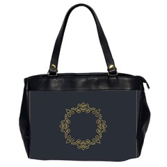 Monogram Vector Logo Round Office Handbags (2 Sides)