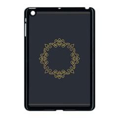 Monogram Vector Logo Round Apple Ipad Mini Case (black) by Nexatart