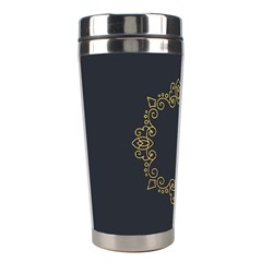 Monogram Vector Logo Round Stainless Steel Travel Tumblers by Nexatart
