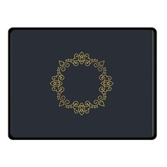 Monogram Vector Logo Round Double Sided Fleece Blanket (small)  by Nexatart