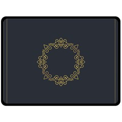 Monogram Vector Logo Round Double Sided Fleece Blanket (large)  by Nexatart