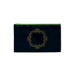 Monogram Vector Logo Round Cosmetic Bag (xs)