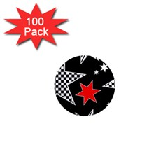 Stars Seamless Pattern Background 1  Mini Magnets (100 Pack)  by Nexatart