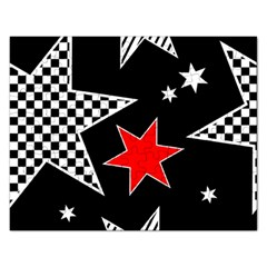Stars Seamless Pattern Background Rectangular Jigsaw Puzzl by Nexatart