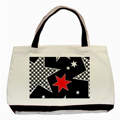 Stars Seamless Pattern Background Basic Tote Bag