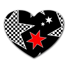 Stars Seamless Pattern Background Heart Mousepads by Nexatart