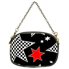 Stars Seamless Pattern Background Chain Purses (two Sides)