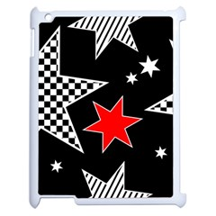Stars Seamless Pattern Background Apple Ipad 2 Case (white) by Nexatart