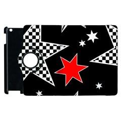Stars Seamless Pattern Background Apple Ipad 2 Flip 360 Case by Nexatart