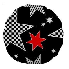 Stars Seamless Pattern Background Large 18  Premium Round Cushions