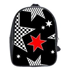 Stars Seamless Pattern Background School Bags (xl)  by Nexatart