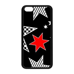 Stars Seamless Pattern Background Apple Iphone 5c Seamless Case (black) by Nexatart