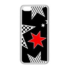 Stars Seamless Pattern Background Apple Iphone 5c Seamless Case (white) by Nexatart