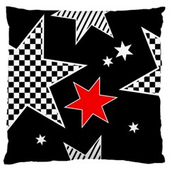 Stars Seamless Pattern Background Large Flano Cushion Case (two Sides)