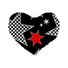 Stars Seamless Pattern Background Standard 16  Premium Flano Heart Shape Cushions by Nexatart