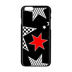 Stars Seamless Pattern Background Apple Iphone 6/6s Black Enamel Case by Nexatart