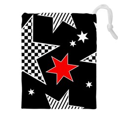 Stars Seamless Pattern Background Drawstring Pouches (xxl) by Nexatart