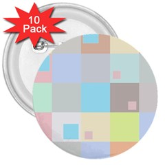 Pastel Diamonds Background 3  Buttons (10 Pack)