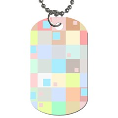 Pastel Diamonds Background Dog Tag (one Side)