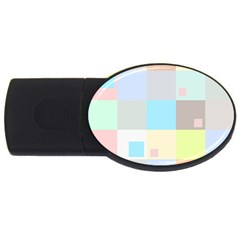 Pastel Diamonds Background Usb Flash Drive Oval (2 Gb) by Nexatart