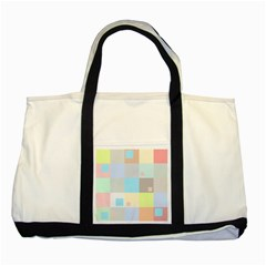 Pastel Diamonds Background Two Tone Tote Bag