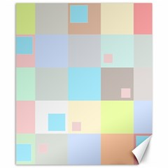 Pastel Diamonds Background Canvas 8  X 10  by Nexatart