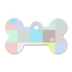 Pastel Diamonds Background Dog Tag Bone (two Sides) by Nexatart