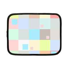 Pastel Diamonds Background Netbook Case (small)  by Nexatart