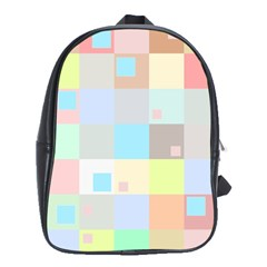 Pastel Diamonds Background School Bags(large)  by Nexatart
