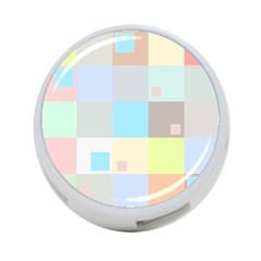 Pastel Diamonds Background 4 Port Usb Hub (two Sides)