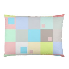 Pastel Diamonds Background Pillow Case (two Sides) by Nexatart