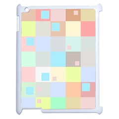 Pastel Diamonds Background Apple Ipad 2 Case (white) by Nexatart
