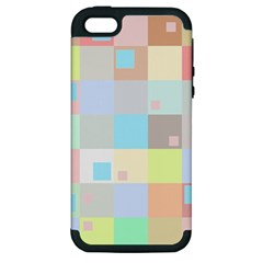 Pastel Diamonds Background Apple Iphone 5 Hardshell Case (pc+silicone) by Nexatart