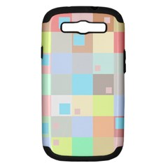 Pastel Diamonds Background Samsung Galaxy S Iii Hardshell Case (pc+silicone) by Nexatart