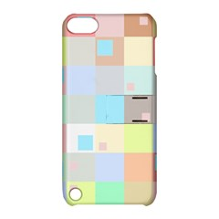 Pastel Diamonds Background Apple Ipod Touch 5 Hardshell Case With Stand