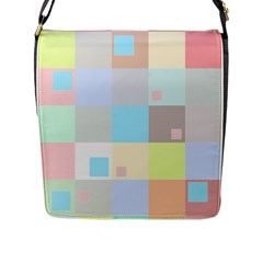 Pastel Diamonds Background Flap Messenger Bag (l)  by Nexatart