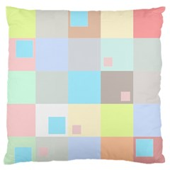 Pastel Diamonds Background Large Flano Cushion Case (two Sides)