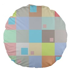 Pastel Diamonds Background Large 18  Premium Flano Round Cushions by Nexatart