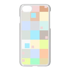 Pastel Diamonds Background Apple Iphone 7 Seamless Case (white) by Nexatart
