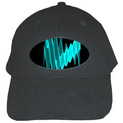 Wave Pattern Vector Design Black Cap by Nexatart